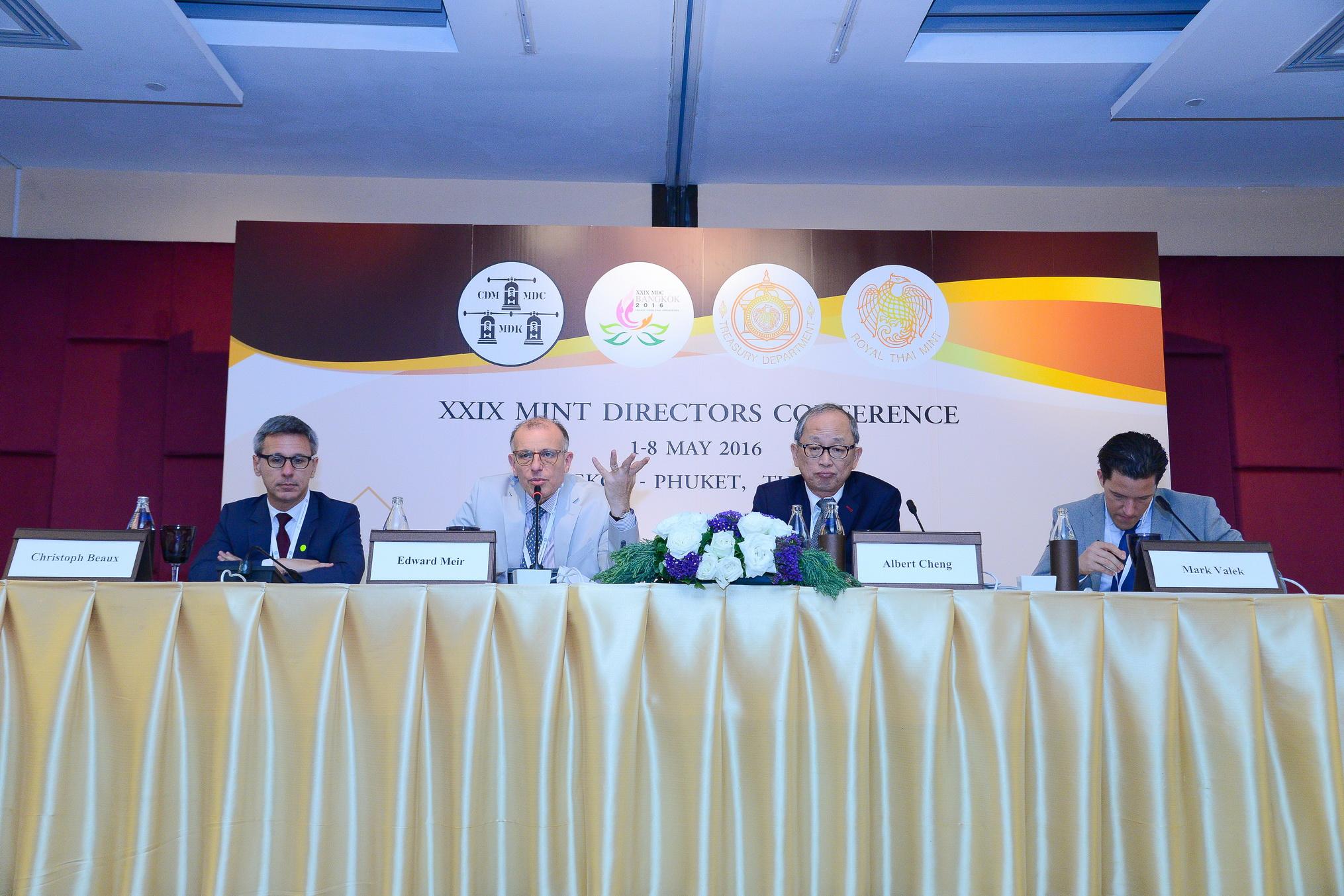 M. Valek auf der Mint Directors Conference in Bangkok