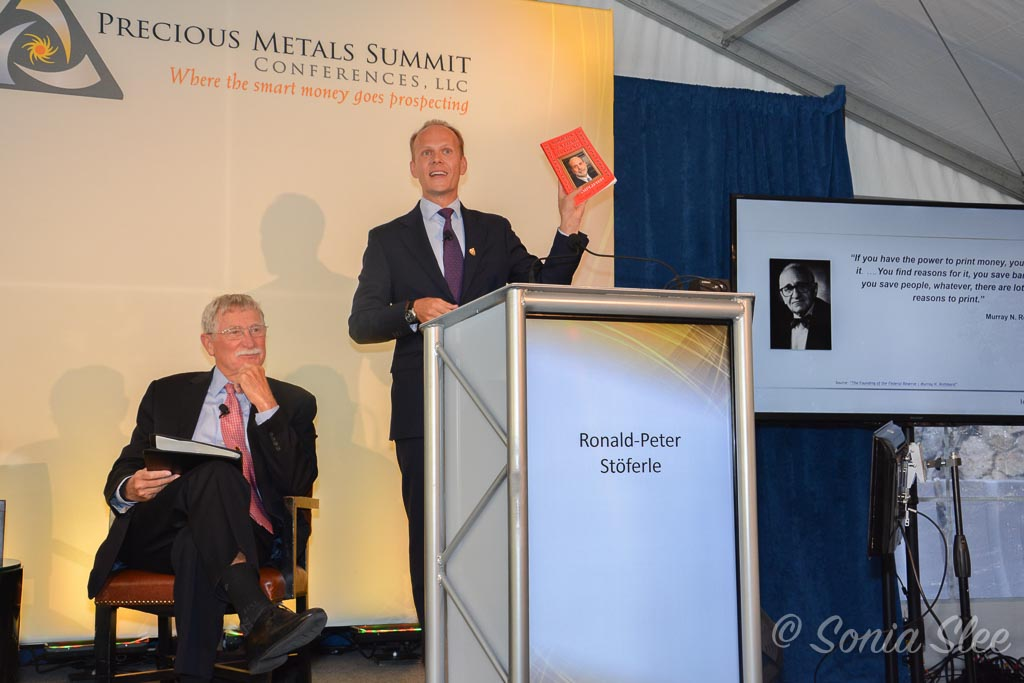 R. Stöferle auf dem Precious Metal Summit in Beaver Creek